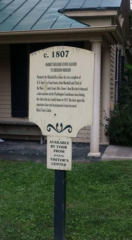 Harriet Beecher Stowe, Museo de la esclavitud a la libertad, Maysville