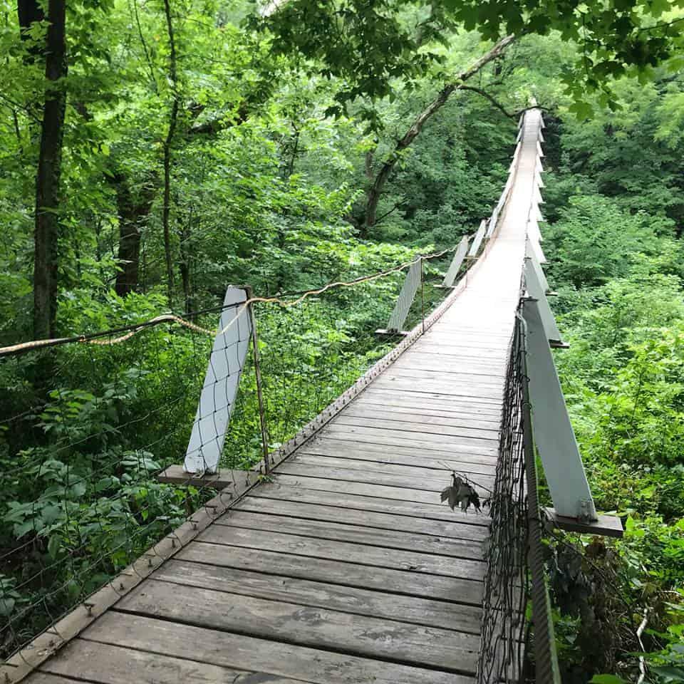 Puente colgante Lover's Leap, Columbus Junction