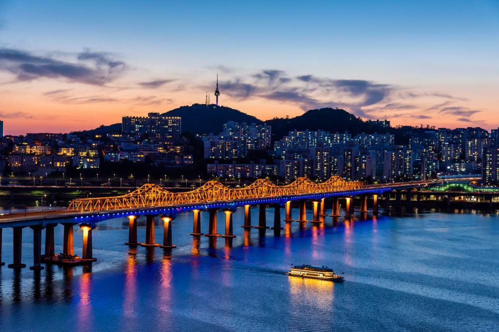 Han River en la noche